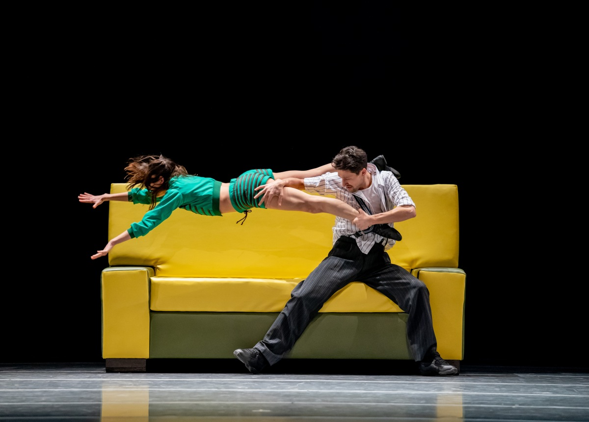 Joffrey Artists Anna Gerberich and Temur Suluashvili in The Sofa_Photo by Cheryl Mann
